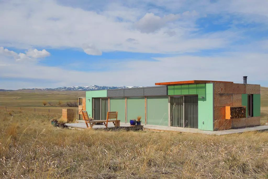 Country charm meets contemporary design in a beautiful montana container home - Container homes alberta ...