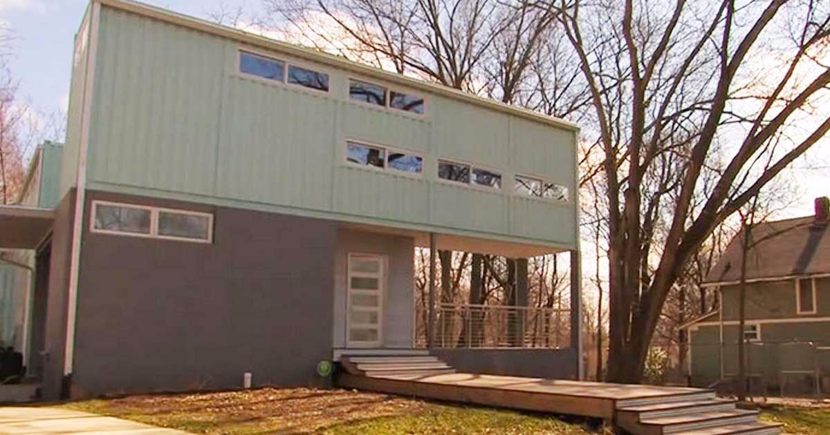 Step inside a lush 2 story container home with the most for 2 story house inside